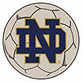 Fanmats Ncaa Notre Dame 4419 College Sports Fan Team Logo Printed Home Office Decorative Soccer Ball Shaped Area Rug Welcome Floor Mat