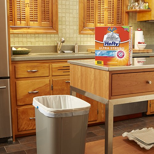 Hefty Ultra Strong Trash Bags (Clean Burst, Tall Kitchen Drawstring, 13 Gallon, 80 Count)