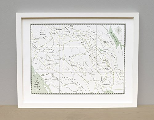 Northern California Wine Country Map Print