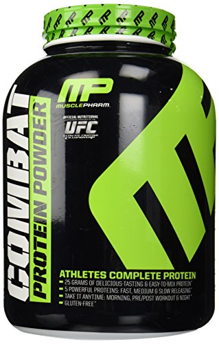 Muscle Pharm Combat Powder, Cookies and Cream, 4-Pounds American Bodybuilding Mass Recovery