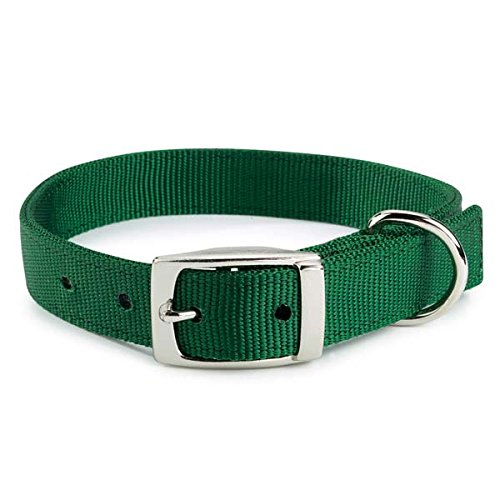 Guardian Gear 28-Inch Double-Layer Nylon Dog Collar, Hunter Green