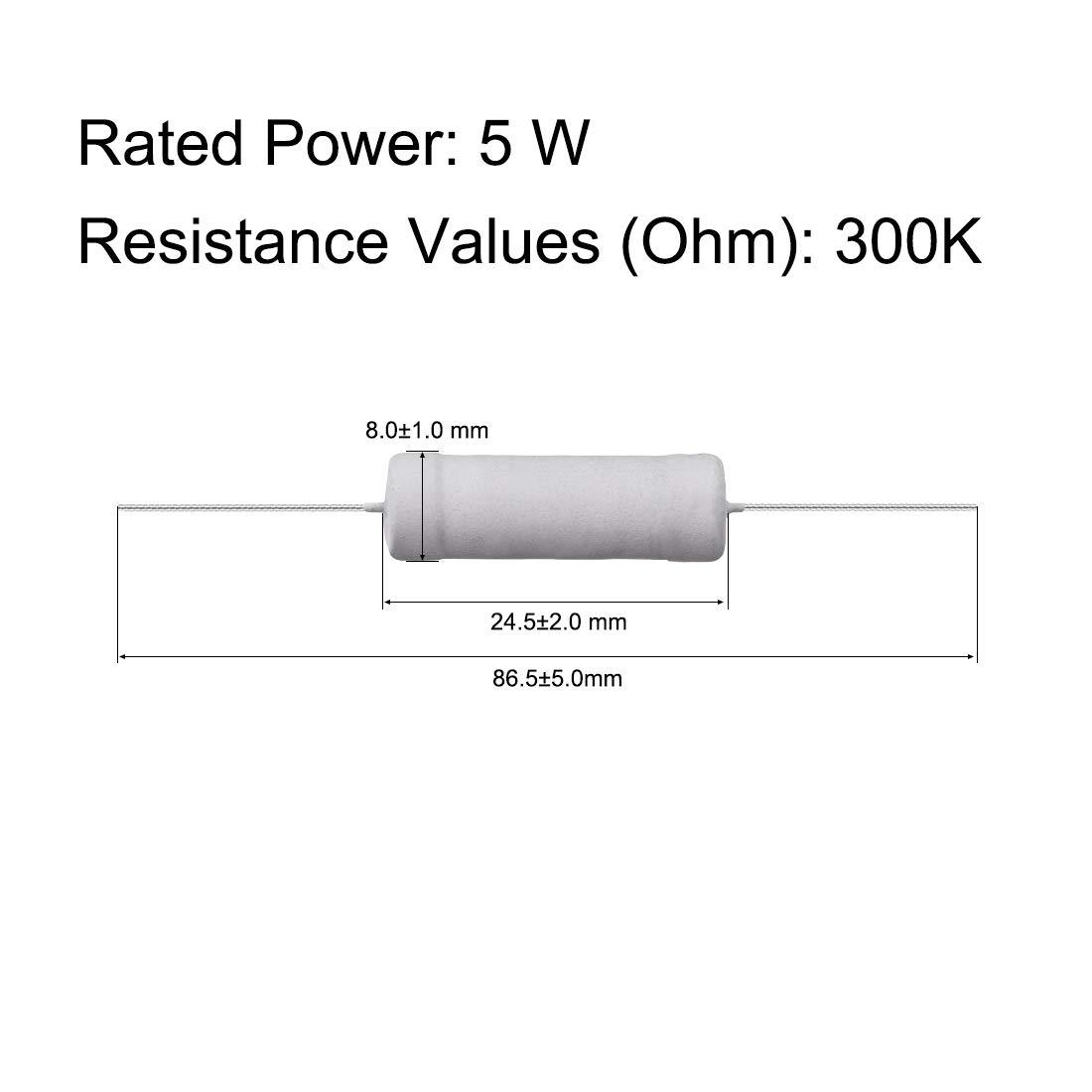 5W 5Watt Metall Oxidschicht Widerstand axial Leitung 3KOhm /±5/% Toleranz sourcing map 10Stk