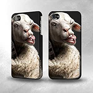 Apple iPhone 4 / 4S Case - The Best 3D Full Wrap iPhone Case - Crazy Lamb