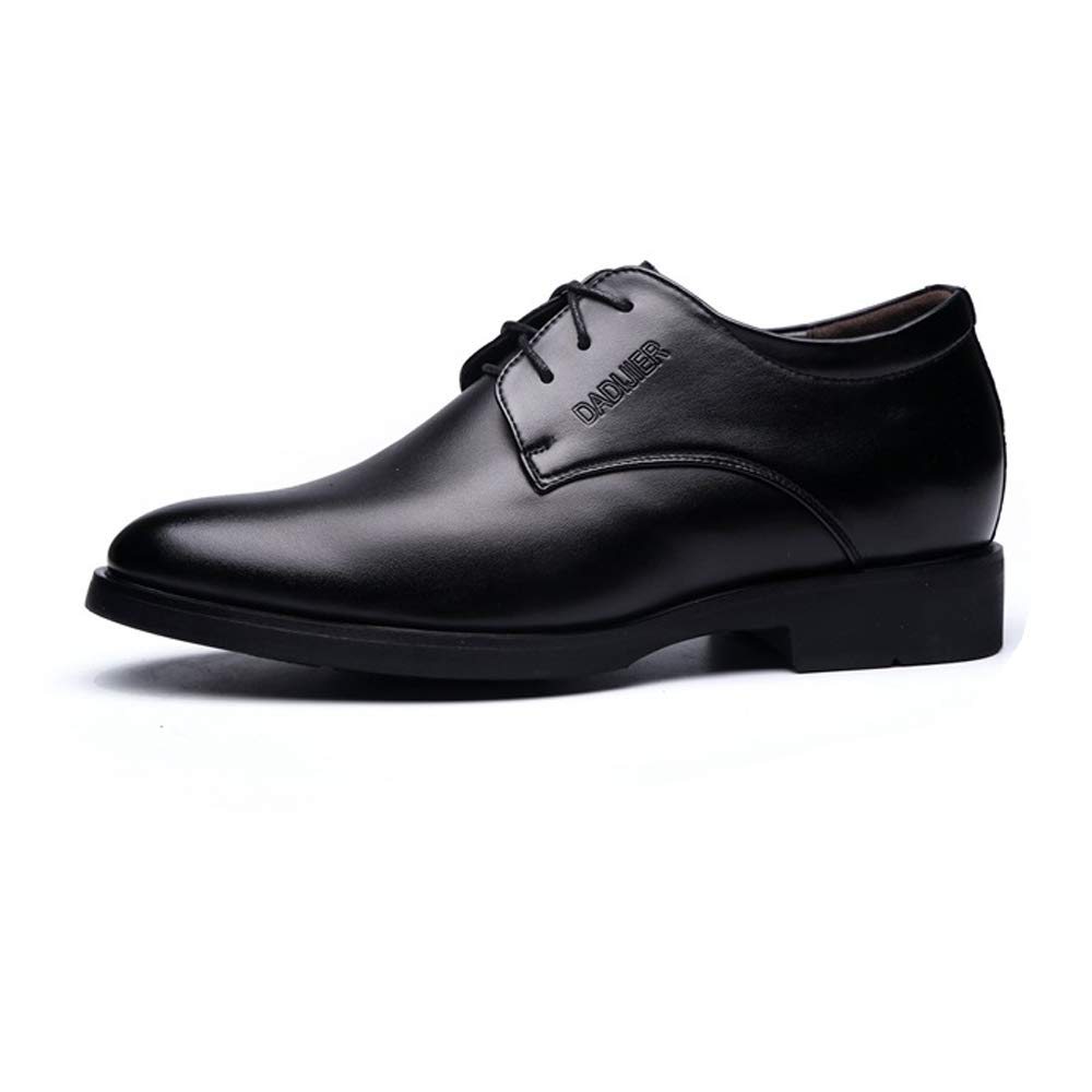 Hishoes Men's Lace Up Business Oxfrods PU Leather Loafer Elevator Shoes 2''/(6cm) Taller Removable Height Increasing Insole Anti-Slip (Color : Black, Size : 8 D(M) US) by Hishoes (Image #2)