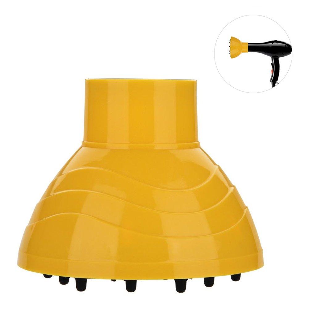 Haar Diffusor Adapter, Multi-Funktion Haar Fön Diffusor Abdeckung Styling Friseur Werkzeug Salon, Gelb Sonew
