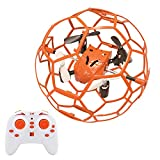 FALCORC Mini RC Drone Quadcopter Ball Style Aerobatic Plays Quadrotor Protective Frame Cage 4CH 3D Flip/Roll LED RC Quadcopter 6 Axis Gyroscope Gyro 2.4Ghz Remote Control Helicopter Toys Gift