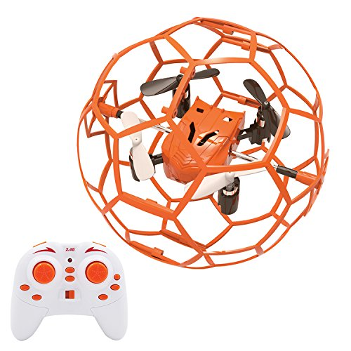 FALCORC Mini RC Drone Quadcopter Ball Style Aerobatic Plays Quadrotor Protective Frame Cage 4CH 3D Flip/Roll LED RC Quadcopter 6 Axis Gyroscope Gyro 2.4Ghz Remote Control Helicopter Toys Gift by FalcoRC