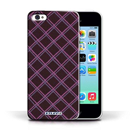 Etui / Coque pour Apple iPhone 5C / Violet/Noir conception / Collection de Motif Entrecroisé