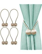 J-H 2 Pairs (4 Pcs) Magnetic Curtain Tiebacks Curtain Holder Curtain Tie Decorative Holdbacks