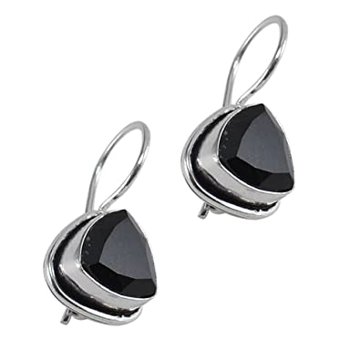 48c2f7c55c5 Buy Silvesto India Silver Plated - Gemstone Black Onyx Gemstone 925 Silver  Plated Earring For Women   Girls Online at Low Prices in India