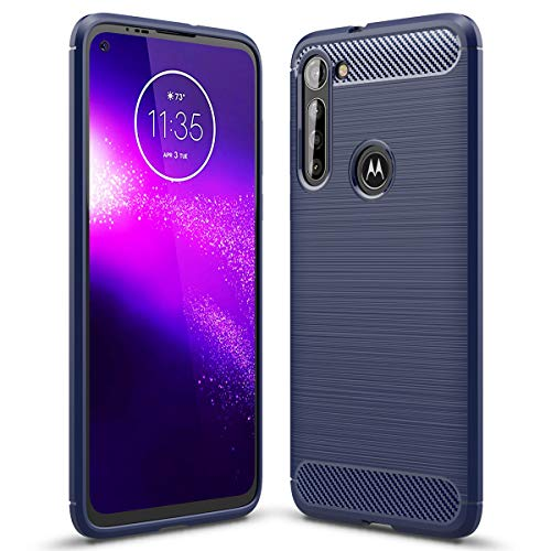 Moto G8 Power Case, Ikwcase Flexible Soft TPU Brushed Non Slip Shockproof Protective Case Cover for Motorola Moto G8 Power Blue