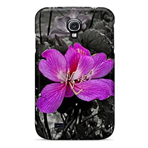 New Arrival Case Cover With EpUjXFO7743FuJFM Design For Galaxy S4- Purple Flower