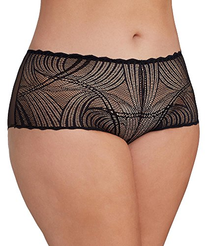 Cosabella Women's Plus Size Minoa Low Rise Hotpnts Extended, Black, 20/22