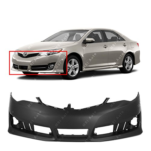 MBI AUTO – Primered, Front Bumper Cover Fascia for 2012-2014 Toyota Camry 12-14, TO1000379