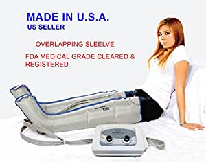 Air Sequential Compression Leg Massager - (L) Full Leg Complete Set