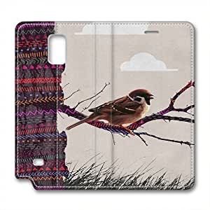 Samsung Note 4 leather Case,Samsung Note 4 Cases ,Muppet bird Custom Samsung Note 4 High-grade leather Cases