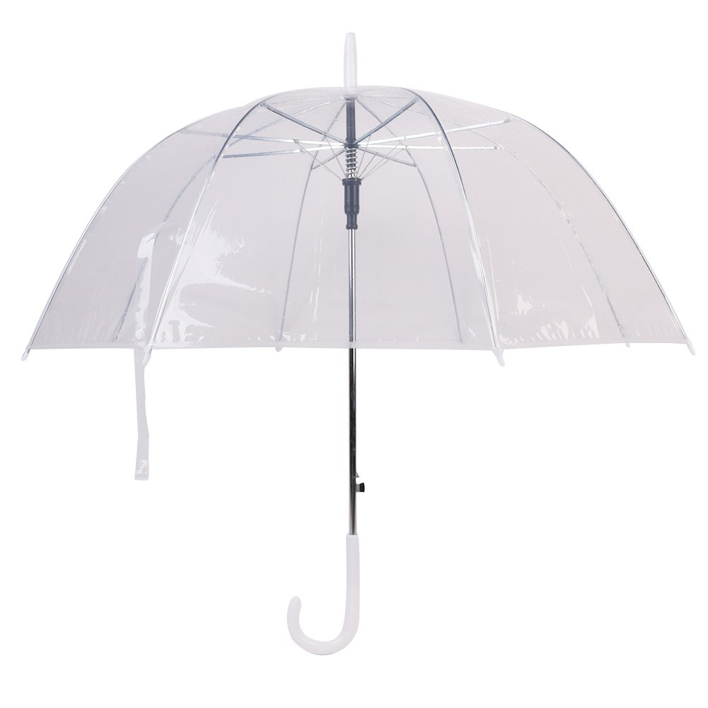 XUANLAN Transparent Clear Bubble Dome Umbrella for Wind and Heavy Rain
