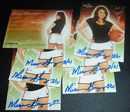 - Miriam Gonzalez Signed 2007 Bench Warmer Card #5 Playboy Autograph March 2001