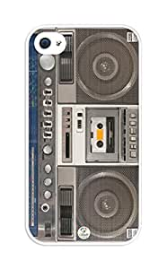 iZERCASE Boombox Colorful Design rubber iphone 4 case - Fits iphone 4 & iphone 4s