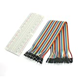 165mm x 55mm Solderless Breadboard MB-102 w 40-Pin M/M Jumper Wire