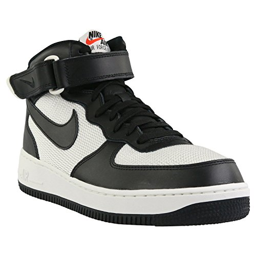 Nike Mens Air Force 1 Mitten 07 Basket Sko Svart / Svart-summit Vitt