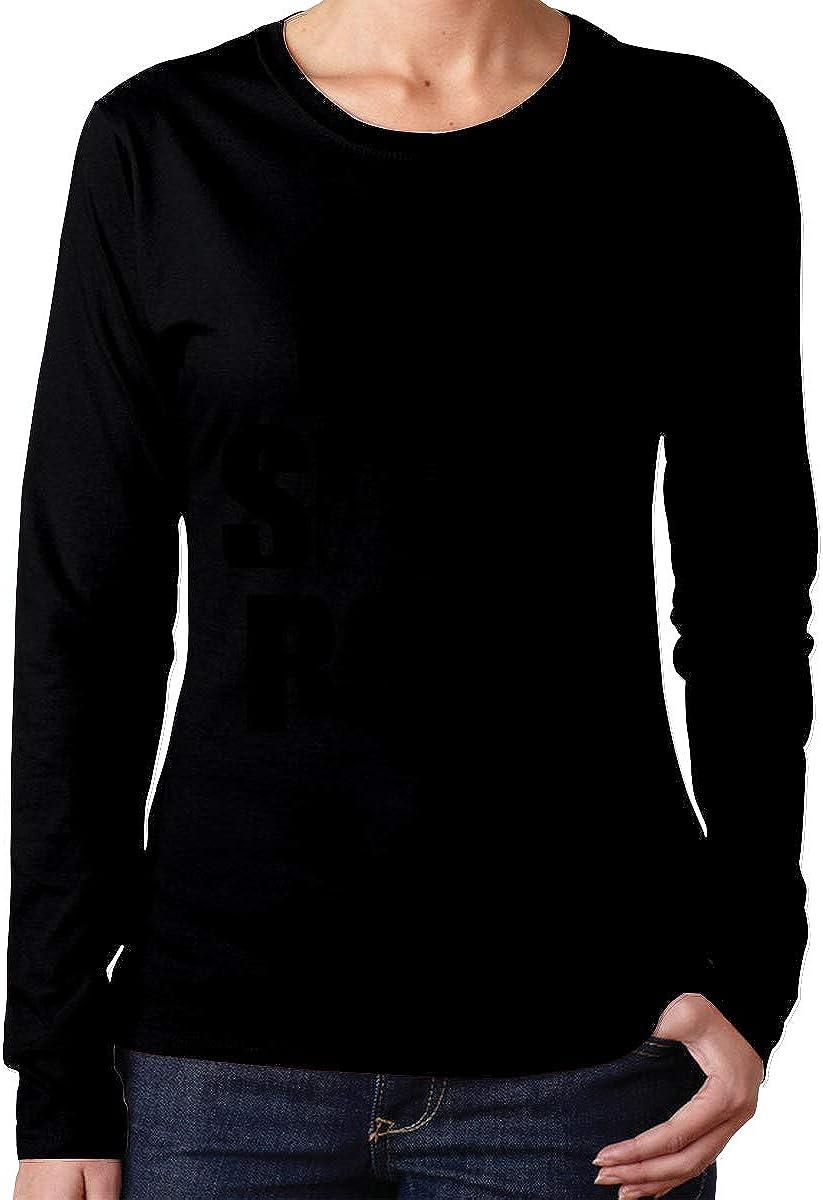 Teen Girls Printed Long Sleeves Black MiiyarHome Womens Long Sleeve T-Shirts Repeat Tee