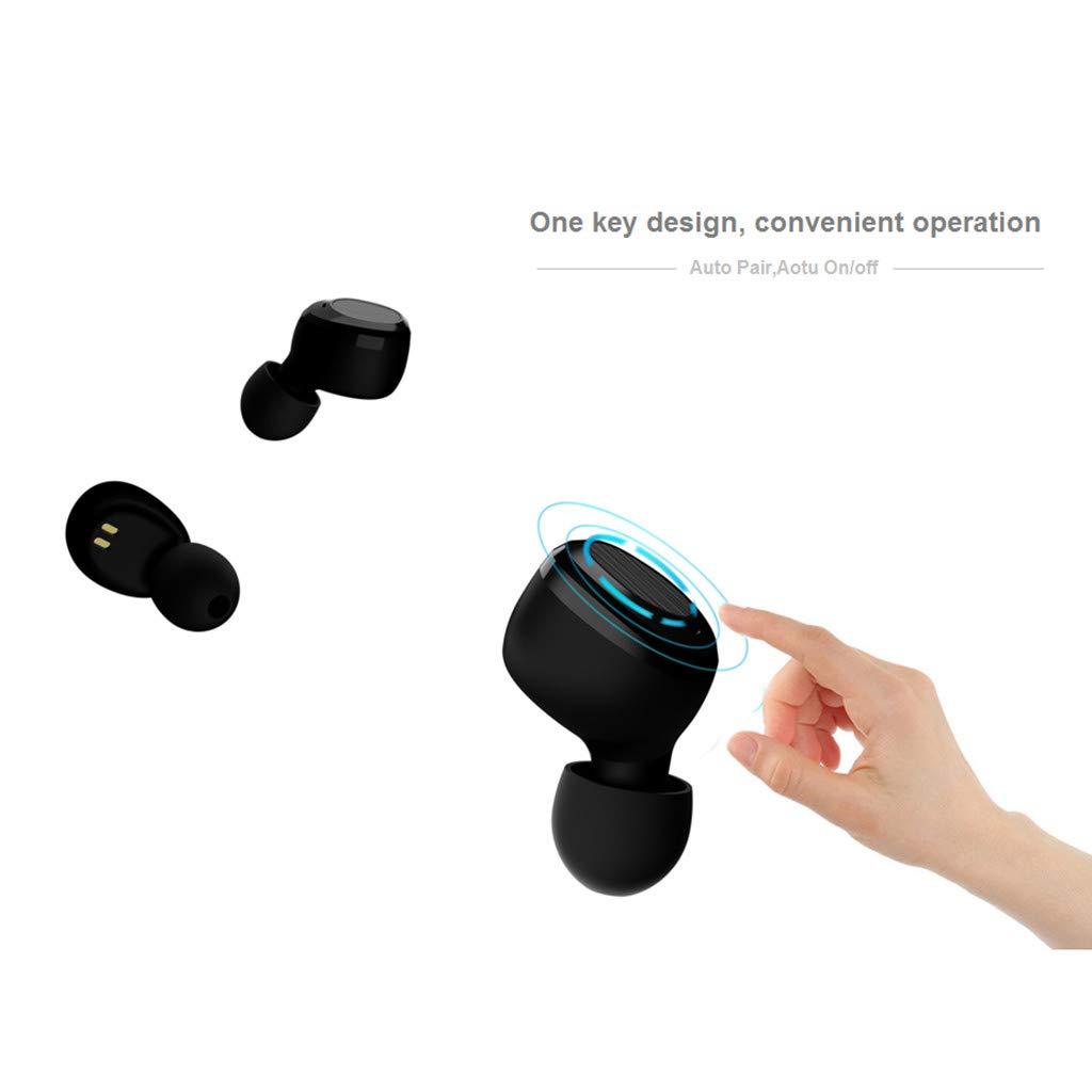 Ultra-Small Twins Sports Mini Wireless Earbuds Sweatproof Bluetooth Stereo Headset In-ear Noise Reduction Earphones by YNAA (Image #3)