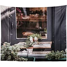 Westlake Art Wall Hanging Tapestry - Plant Window - Photography Home Decor Living Room - 26x36in