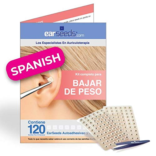 Ear Seeds Weight Loss Chart (Spanish Edition) Bajar De Peso Auriculoterapia - Edition Fat Pack