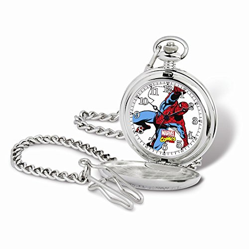 Marvel+Watches Products : Marvel Spiderman Pocket Watch w/Chain