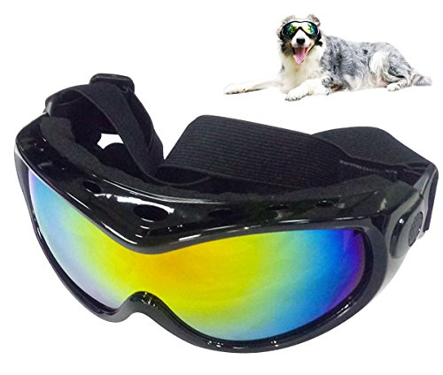 GLE2016 Dog Goggles Sunglasses - Pet Doggles UV Protection Eyewear with Strap, Cool for Running, Swimming, and riding - Dog Uv Sunglasses Protection