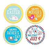 Pearhead First Year Holiday Milestone Photo Sharing Baby Belly Stickers with 14 Holidays Included