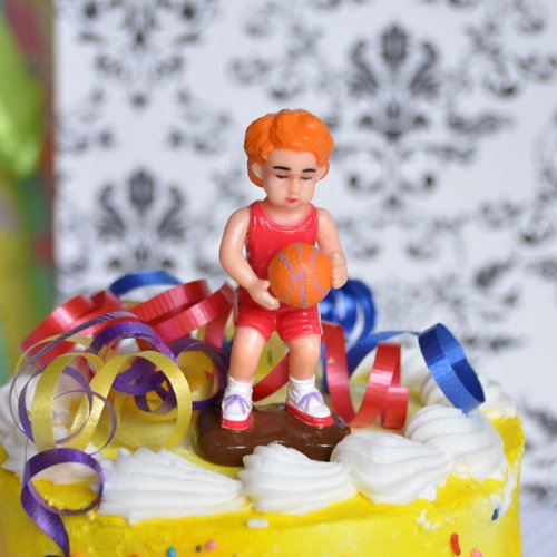 Basketball Player Cake Topper (1 Count) - Boy