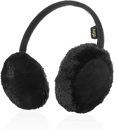 Zeltauto Unisex Kids Furry Ear Warmer Plush Winter Earmuff for 3-8 Years Old