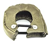 QUWEI Titanium Turbo Blanket T3 Lava cover for Turbocharger Thermal Heat Shield Cover with Fastener Springs