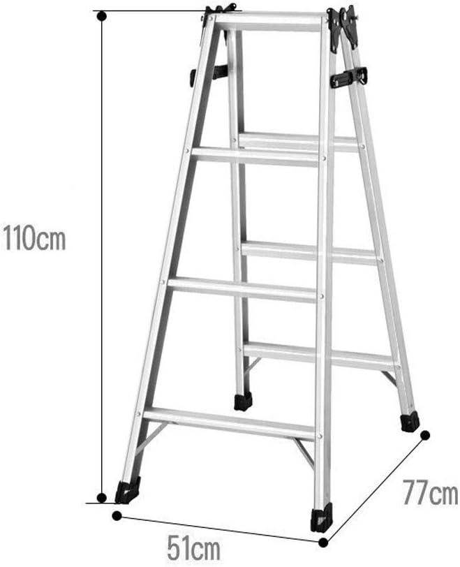 JU FU Taburete de paso, hogar plegable Escalera recta espiga de escalera Escaleras Escalera Ingeniería engrosamiento Tres Escalera plegable Cuatro Escalera plegable opcional @@ (Size : 77x51x110cm): Amazon.es: Bricolaje y herramientas