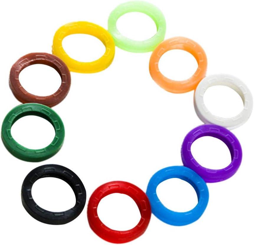 colore casuale anelli identificativi per chiavi in ??plastica: un sistema di codifica perfetto per etichettare le chiavi copritastiere Artibetter Confezione da 24 etichette per chiavi