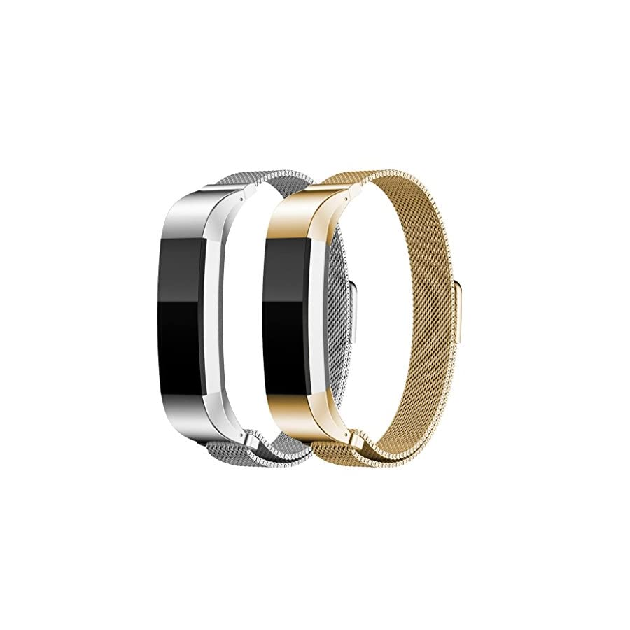 HUMENN For Fitbit Alta HR and Alta Bands, Replacement Milanese Loop Stainless Steel Metal Bands For Fitbit Alta HR/Alta
