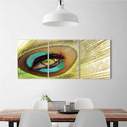 Cheap  Frameless Paintings 3 Pieces Painting Woman Looking Through Eye Creativeating to liven..