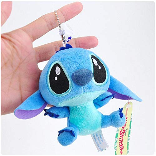 (Best Quality - Plush Keychains - Lilo and Stitch Plush Keychain Pendant Toys Cute Doll Soft Stuffed Animals Toys for Children Kids Xmas Gifts 10cm - by NEWSTARWAR - 1 PCs)