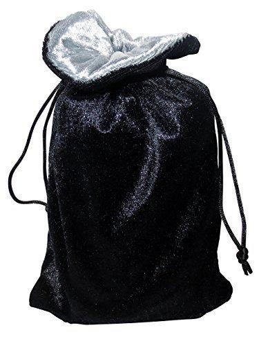 Velvet Pull - Rune/tarot Bag: Black and Silver Velvet Bag