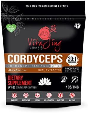 Cordyceps Sinensis Mushroom Extract Powder 20:1 Concentration (4oz-114gm)