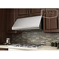 Z Line 527-36 Stainless Steel Wall/Under Cabinet Mount Range Hood, 36-Inch