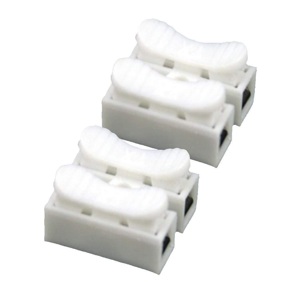 yagaiu sin soldaje r/ápido 2P Cable Alambre Conector no Clema Bloque resorte Blanco