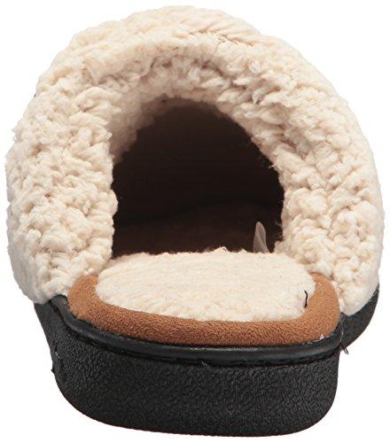 Dearfoams Women's Textured Knit Closed Toe Scuff Dark Heather Grey cpJXt