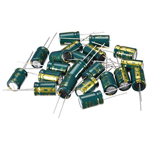 uxcell Aluminum Radial Electrolytic Capacitor Low ESR 220uF 63V 105 Celsius 3000H Life 10x16mm High Ripple Current Low Impedance 20pcs Green (63v Aluminum Electrolytic Capacitor Radial)