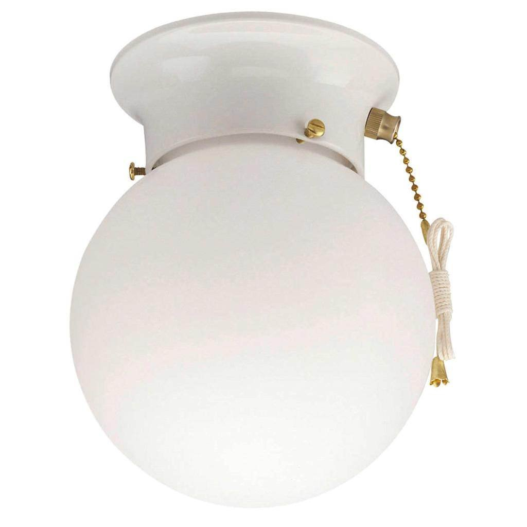 Westinghouse 6668000 White Ceiling Light With Pull Chain