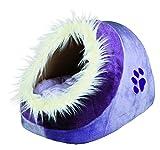 Trixie Minou cuddly cat / dog cave, 35 × 26 × 41 cm, lilac/violett