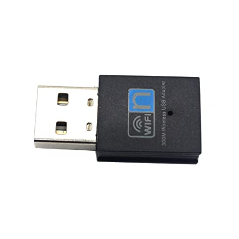 Basico Adaptador inalámbrico USB de 300 Mbps dongle Receptor de la Tarjeta de Red LAN Mini