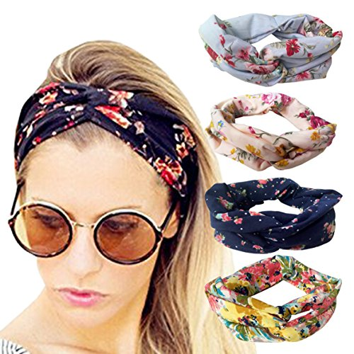 4 Pack Headbands